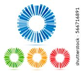 color circles set | Shutterstock .eps vector #566716891