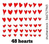 hearts  vector set | Shutterstock .eps vector #566717965