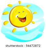 sun  cheerful    Shutterstock .eps vector #56672872