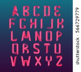 paper folded alphabet in... | Shutterstock .eps vector #566729779