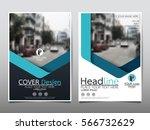 blue flyer cover business... | Shutterstock .eps vector #566732629