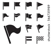 flag vector icon set isolated... | Shutterstock .eps vector #566735989