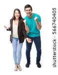 full length portrait of a young ...   Shutterstock . vector #566740405