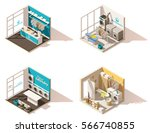 vector isometric low poly... | Shutterstock .eps vector #566740855