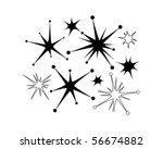 retro stars 9   clip art | Shutterstock .eps vector #56674882