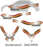 vehicle graphics  stripe  ... | Shutterstock .eps vector #56674909