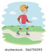 vector cartoon funny... | Shutterstock .eps vector #566750395