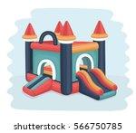 vector cartoon illustration of... | Shutterstock .eps vector #566750785