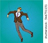 vector illustration of man... | Shutterstock .eps vector #566751151