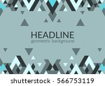 trendy horizontal geometric... | Shutterstock .eps vector #566753119