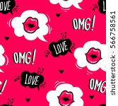 valentines day. cute fashion... | Shutterstock .eps vector #566758561