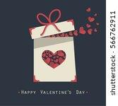 cover design.the white gift box ... | Shutterstock .eps vector #566762911