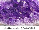 macro photo of lilac amethyst... | Shutterstock . vector #566763841