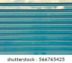Roller Shutter Door. Blue...