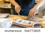 pizza handmade | Shutterstock . vector #566772835