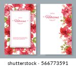 vector red tea vertical banners ... | Shutterstock .eps vector #566773591