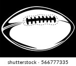 american football ball isolated ... | Shutterstock .eps vector #566777335