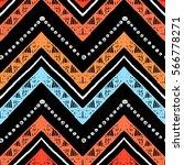 Stripes Bright Tribal Seamless...
