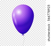 balloon. transparent isolated... | Shutterstock .eps vector #566778925