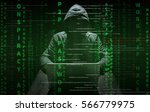 hacker at work with graphic... | Shutterstock . vector #566779975