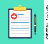 clipboard with medical cross... | Shutterstock .eps vector #566783857