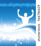poster from cheering people. | Shutterstock .eps vector #566786629