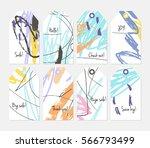 roughly scribbled orange blue...   Shutterstock .eps vector #566793499