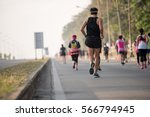 group of runners men run... | Shutterstock . vector #566794945