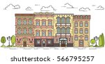 city skyline in line art style  ...   Shutterstock .eps vector #566795257