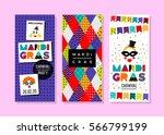 carnival templates in memphis... | Shutterstock .eps vector #566799199
