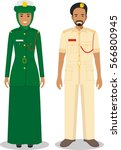 couple of muslim policeman and... | Shutterstock .eps vector #566800945