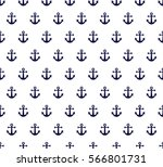 seamless sea pattern in anchor | Shutterstock .eps vector #566801731