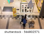 shopping mall with soft focus | Shutterstock . vector #566802571