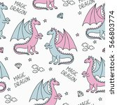 seamless vector pattern of cute ...   Shutterstock .eps vector #566803774