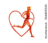 running mar people run  health...   Shutterstock .eps vector #566805034