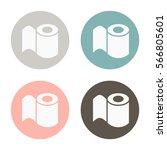 toilet paper vector icon | Shutterstock .eps vector #566805601
