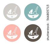 mortar and pestle. mortar... | Shutterstock .eps vector #566805715