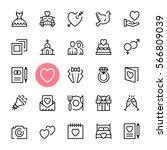 Vector Wedding Icons Set....
