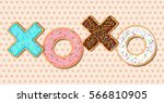 xoxo vector phrase made out of... | Shutterstock .eps vector #566810905