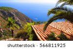 beautiful scenery of eze village | Shutterstock . vector #566811925