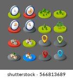 isometric vector 3d icon city... | Shutterstock .eps vector #566813689