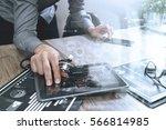 doctor working with digital...   Shutterstock . vector #566814985