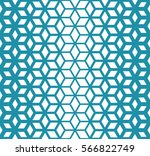 abstract sacred geometry blue... | Shutterstock .eps vector #566822749