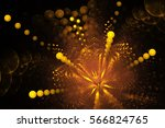 Golden Fireworks. Abstract...