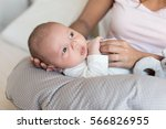 mother with newborn baby in the ...   Shutterstock . vector #566826955