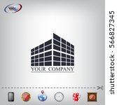 buildings icon for company   Shutterstock .eps vector #566827345