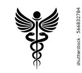 ancient medical symbol caduceus ... | Shutterstock .eps vector #566832784