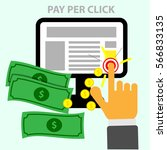 pay per click icon. businessman.... | Shutterstock .eps vector #566833135