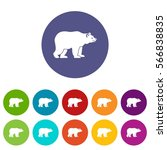 bear set icons in different... | Shutterstock .eps vector #566838835