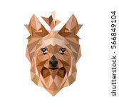 yorkshire terrie.yorkshire... | Shutterstock .eps vector #566849104